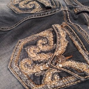 Cello jeans! Super cute embellished faded denim!